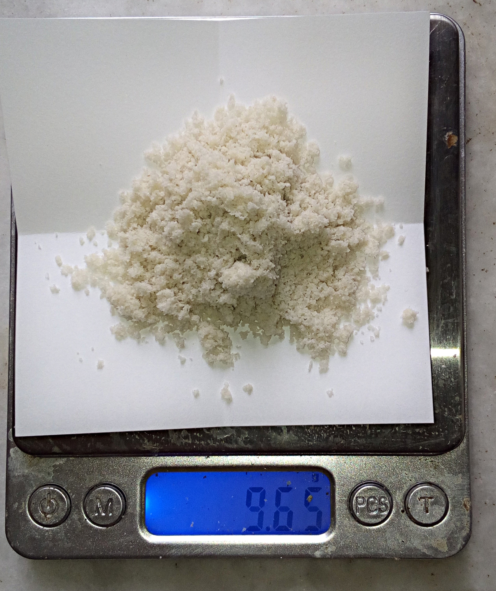 Pesée du sel